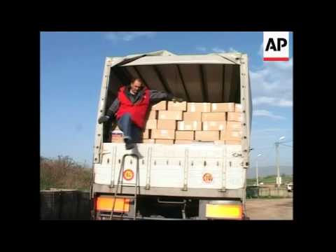 Shipment of aid arrives for minority Serb population