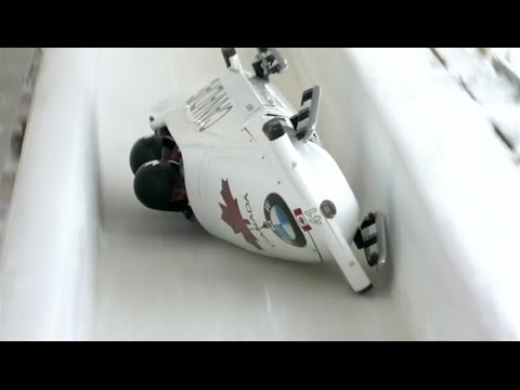 Canadian bobsled crashes, speeds down course | CBC Sports