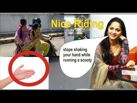 how to solve hands shaking while running a scooty | ladies scooty | drive | online tutoring