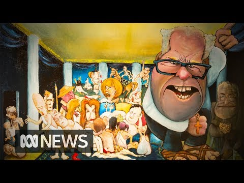 Bald Archy paintings poke fun at Australian celebrities | ABC News