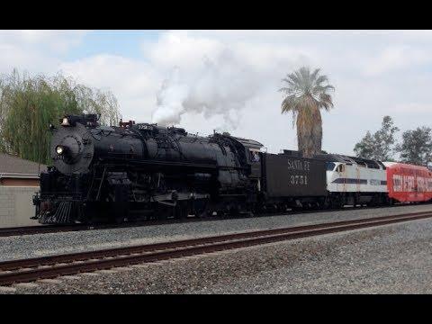 santa fe  steam locomotive chase  san bernardino  youtube