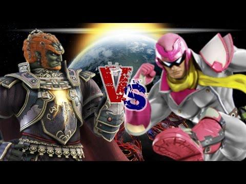 Captain Falcon (Car) VS Ganondorf (Jo) SSB4 Wii U