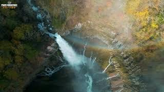 華厳の滝【紅葉】日光ドローン空撮 4K Drone Japan Nikko KegonFalls