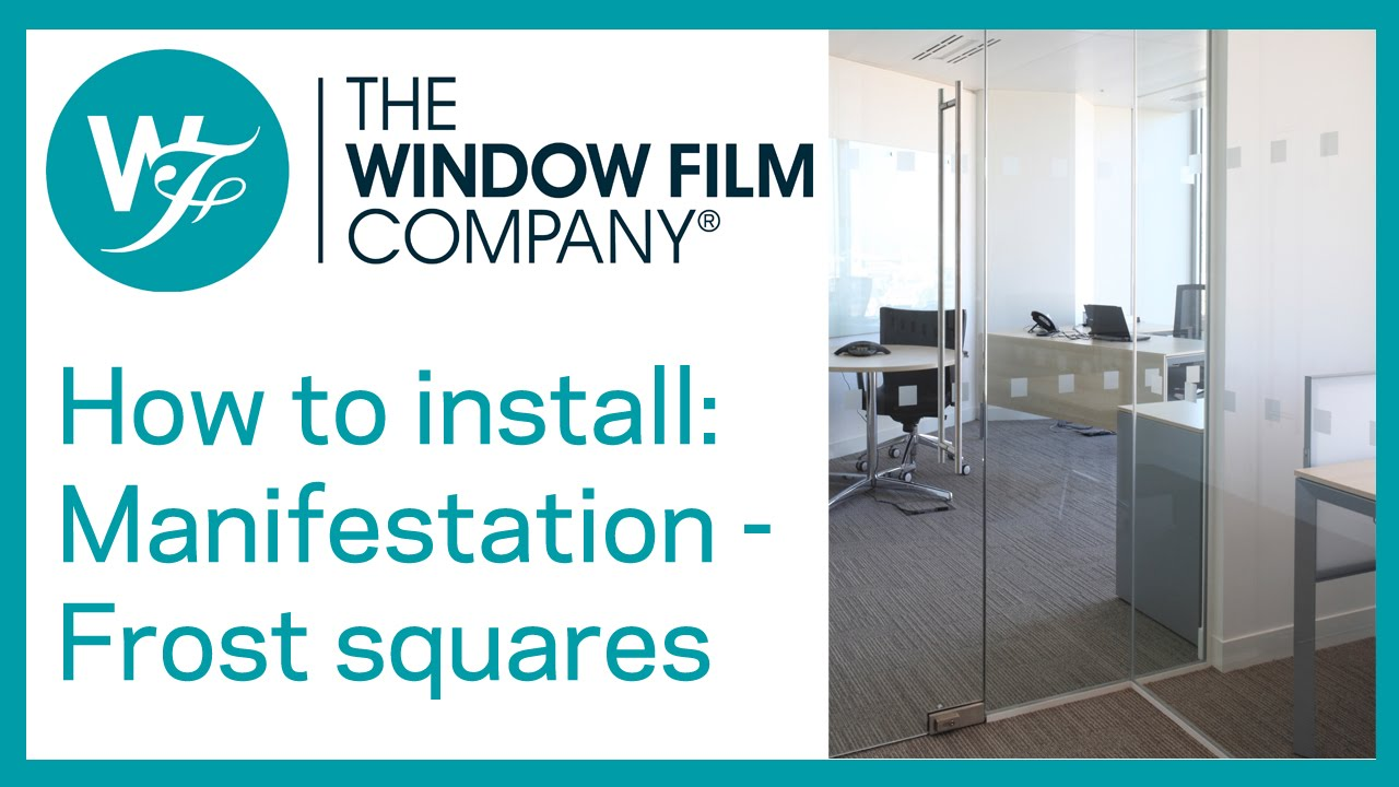 How to install Frosted Glass Manifestation Squares  sc 1 st  YouTube & How to install Frosted Glass Manifestation Squares - YouTube