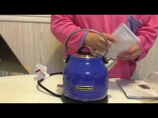 KitchenAid Electric Kettle plus Manual Booklet Unboxing & Review