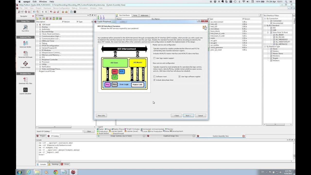 Xilinx XPS - Custom IP Part 1