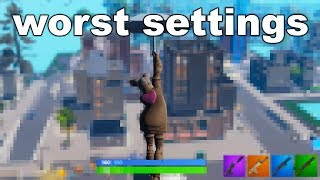 I Played Fortnite on the WORST Graphics Possible...