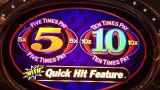 5x 10x Quick Hit ✦LIVE PLAY✦ Slot Machine Pokie at Caesars, Las Vegas