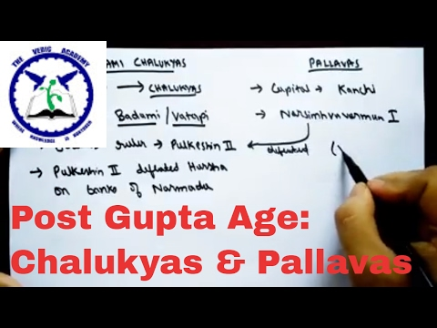 Chalukyas and Pallavas | SSC CGL | Post Gupta Period