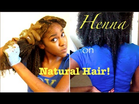 Natural Hair Henna On Long Kinky Curly Hair Youtube