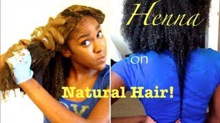 HENNA on Long NATURAL HAIR !