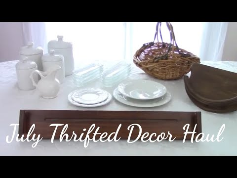 July Thrifted Home Decor Haul ~ Affordable Kitchen Decor ~ My Quaint Cottage