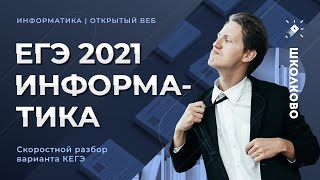 ЕГЭ 2021 ИНФОРМАТИКА. Скоростной разбор варианта. Пробник от СТАТГРАДА