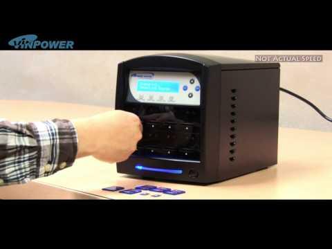 How to operate Vinpower Digital's SDShark SD MicroSD Duplicator