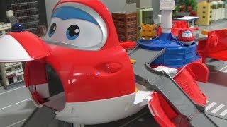 Super Wings Airplane Tower Toys Play  슈퍼윙스 비행기 타워 장난감 놀이