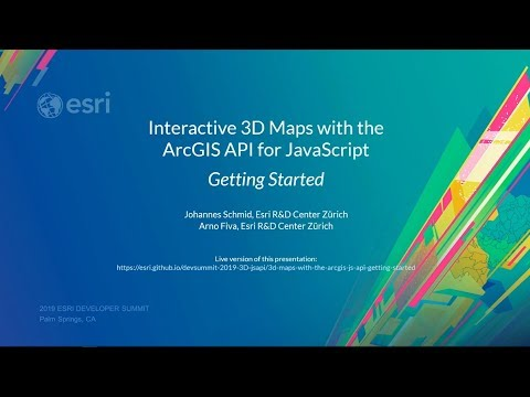 Interactive 3D Maps With The ArcGIS API For JavaScript: Getting Started