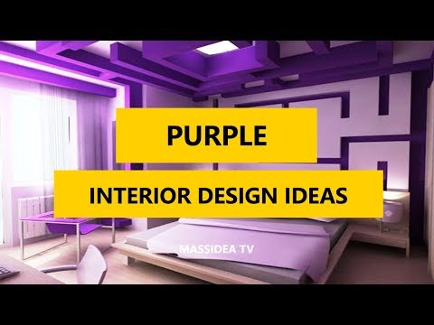 45+ Cool Modern Interior Design Ideas with Purple Color 2017