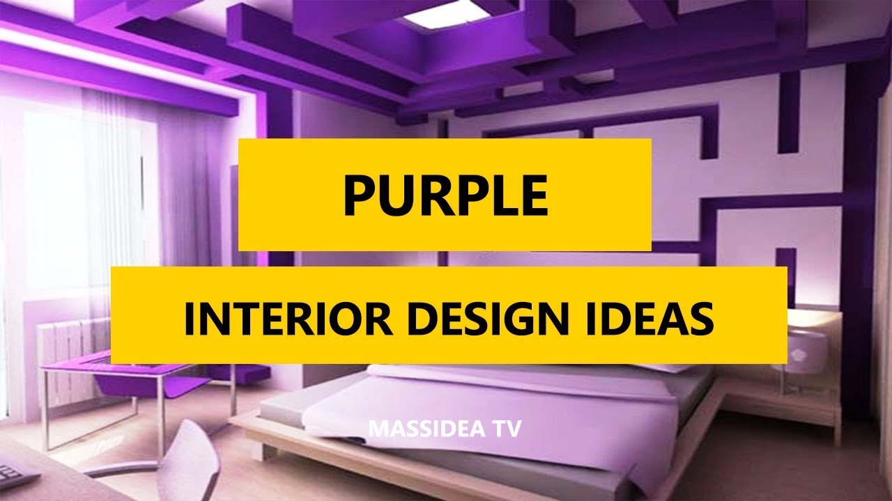 45+ Cool Modern Interior Design Ideas with Purple Color 2017 - YouTube