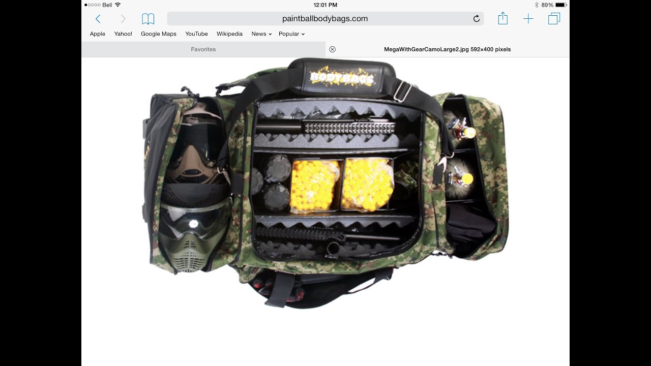 My Paintball Gear Bag Review