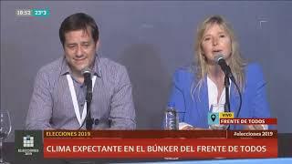 Elecciones: A minutos de los resultados, conferencia en el Frente de Todos