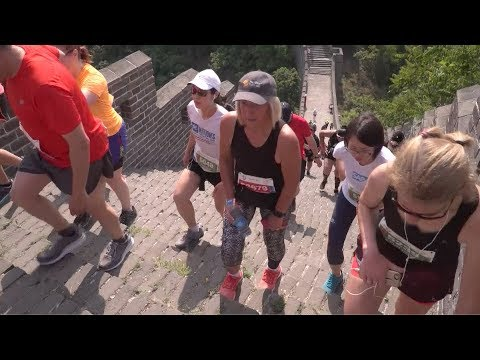 Over 2,000 runners take part in the Great Wall of China marathon