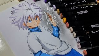 Drawing Killua Zoldyck from Hunter x Hunter