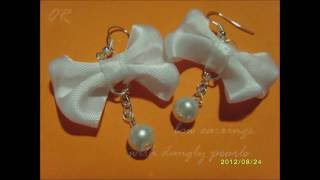 How to make BOW EARRINGS - 2 types! ♡ (a step-by-step DIY tutorial)