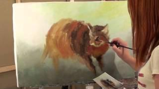 Уроки рисования для детей. живопись. масло.