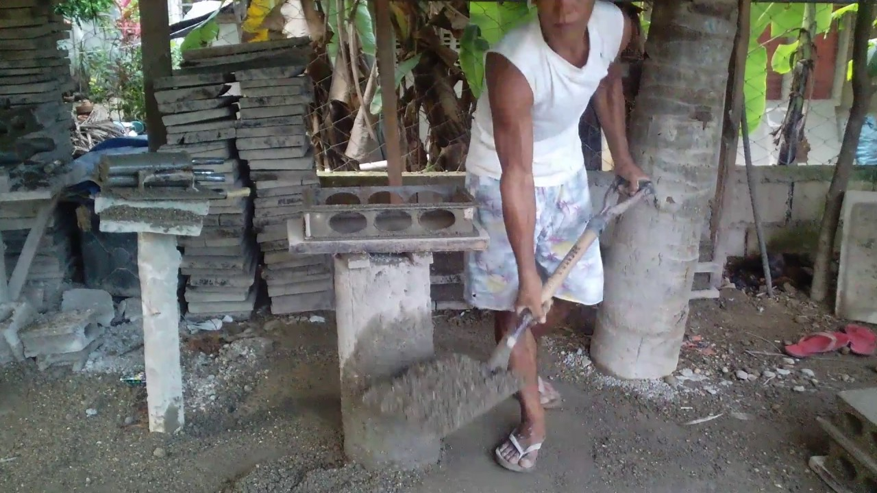 How Hollow Blocks Are Made Manually In The Philippines