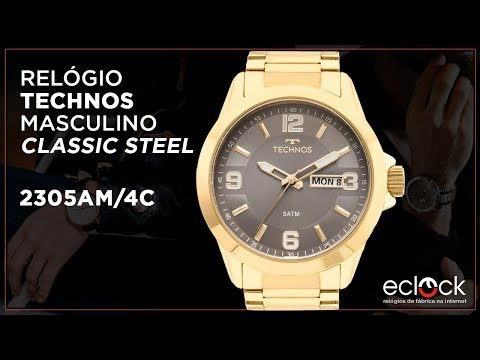 9ab7a03f353 Remix Relógio Technos Masculino Classic Steel 2305AM 4C - Eclock - Eclock  Relógios - vovoclip.com