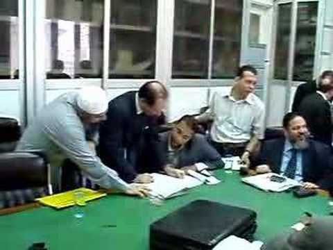 Abu Omar meets his Italian lawyer in Cairo
