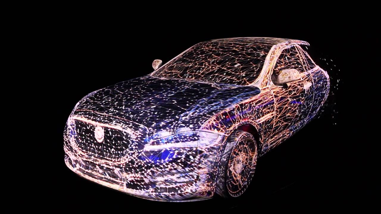 3D Mapping on a transparent Jaguar car Full HD - YouTube
