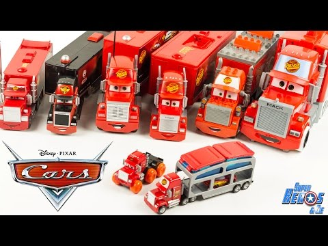Jouet Disney Cars 9 Camions Mack Truck Collection Flash McQueen Toy Review Lightning McQueen