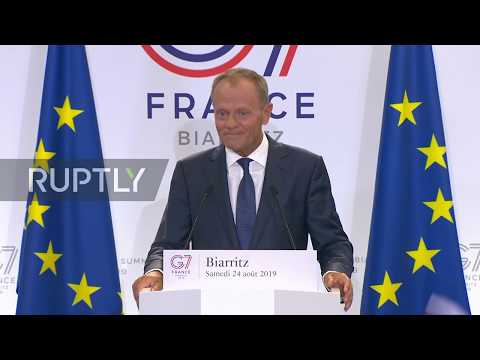 France: Tusk hopes 'common solutions' will trump 'senseless disputes' at G7 from YouTube · Duration:  4 minutes 11 seconds