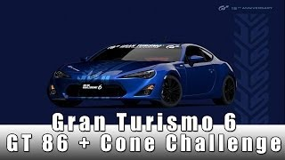 Gran Turismo 6 Lets Play Ep 2   Gt 86 + Cone Challenge !