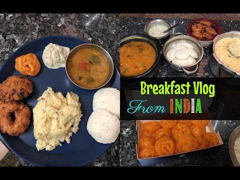 South Indian Breakfast Vlog/ India trip / Breakfast vlog