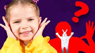 Hide and Seek with a white Rabbit - Easter Bunny !  نتظاهر اللعب للأطفال