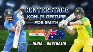 Kohli earns praise from the cricketing fraternity for Smith gesture