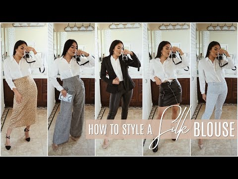Silk Blouse Outfit Ideas: Casual To Dressy! Why You Need A Silk Shirt In Your Closet! INMYSEAMS