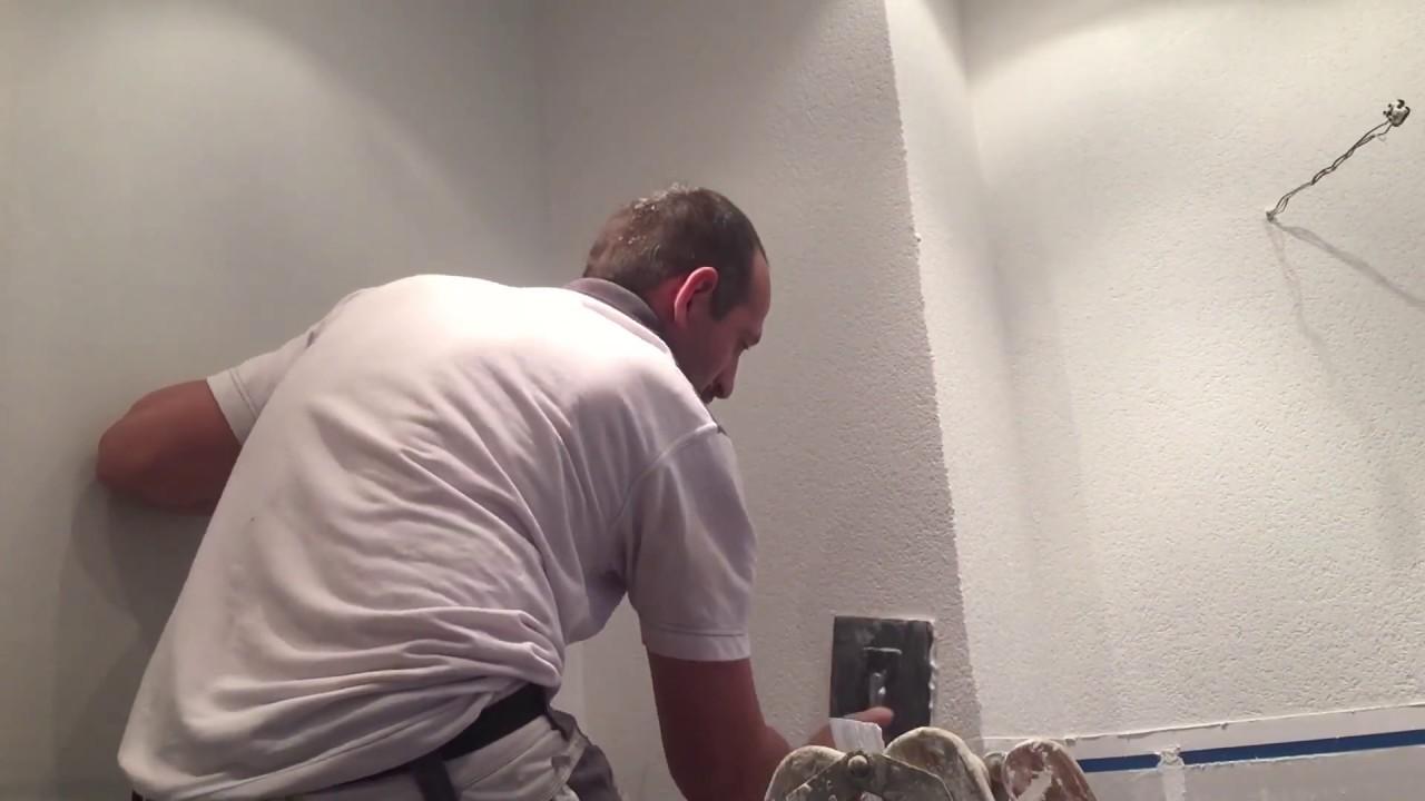 Bad Verputzen Mit Knauf Raumklima Scheibenputz 1 0 Mm Youtube
