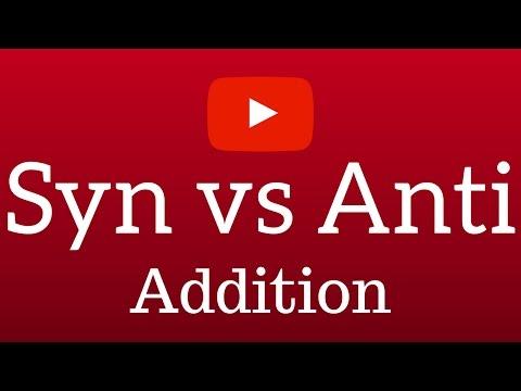 Syn vs Anti Addition Organic Chemistry