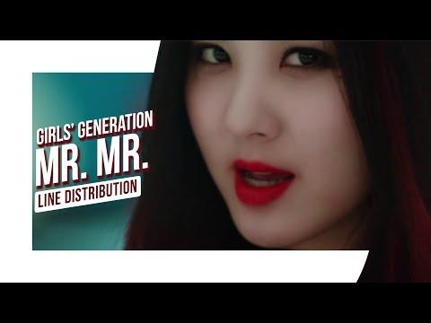 Girls' Generation (소녀시대) - Mr. Mr. (미스터.미스터.) (LIVE Line Distribution)