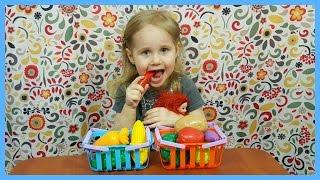 Овощи! Фрукты! Играем вместе! Обзор! Овощи из корзинки! Видео для детей! | Златуня