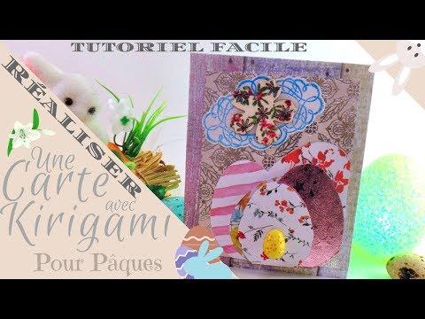 Réaliser : Une carte en Kirigami pour Pâques...