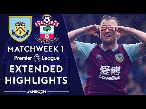 Burnley v. Southampton | PREMIER LEAGUE HIGHLIGHTS | 8/10/19 | NBC Sports