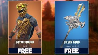 New BATTLEHOUND & SILVER FANG Skins! HOW TO GET FREE In Fortnite Battle Royale