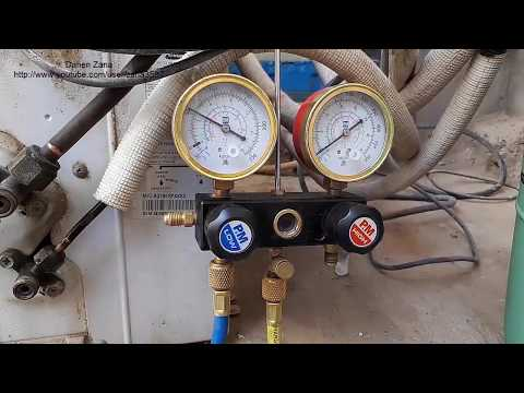How to refill air conditioner by R22 (video 32)