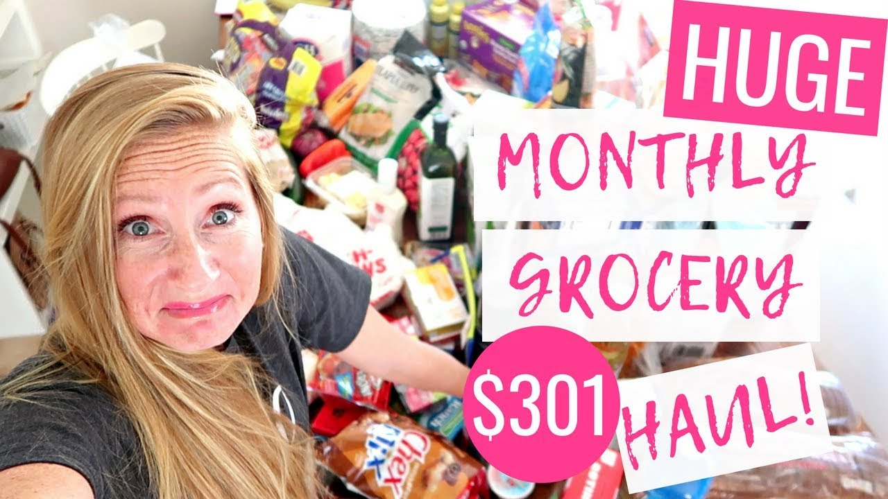 181781298d4 August 2018 Monthly Grocery Haul on a Budget | Costco Grocery Grocery Haul  2018