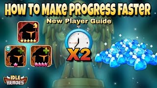 Idle Heroes(O) - How To Make Progress Faster - Ultimate Guide For New Players In Idle Heroes