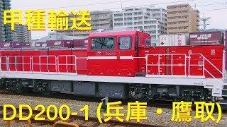 【甲種輸送】DD200形(DD200-1)1両 兵庫・鷹取駅 2019.8.27
